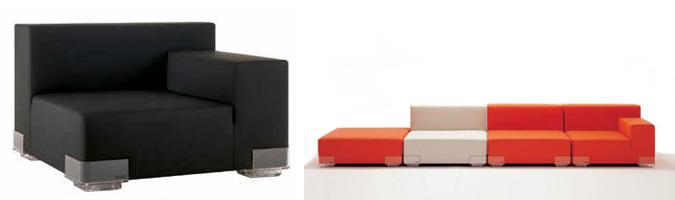 Il divano componibile ideale per un salotto moderno e dinamico