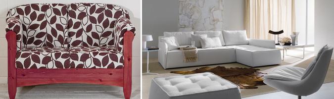 Il divano in tessuto, elegante per il soggiorno