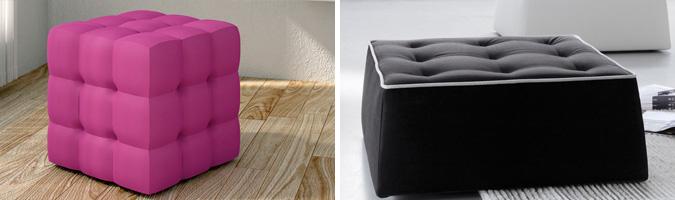 I pouf da abbinare al divano che arredano il tuo salotto