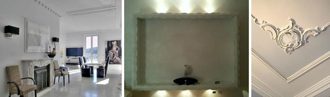 Decorazioni murarie per soggiorno - www.stucchificio.com