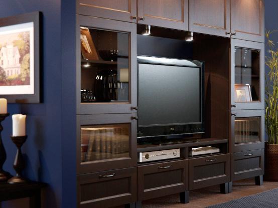 Pareti attrezzate mobili utili e di stile per arredare il nostro soggiorno - Mobili soggiorno ikea hemnes ...