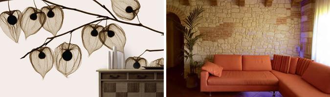 Good il murario anche in soggiorno carta piastrelle legno mattoni e materiali innovativi with - Leggio da letto ikea ...