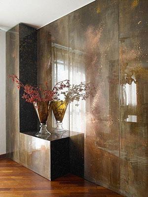 Il Rivestimento Murario valorizza una parete del soggiorno o parte ...