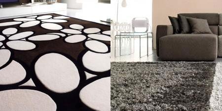 come valorizzare il soggiorno con i tappeti. - Tappeto Soggiorno Nero