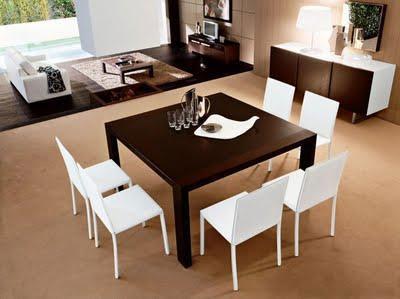 Tavoli e sedie per soggiorno moderno tavolo bianco da cucina - Epierre