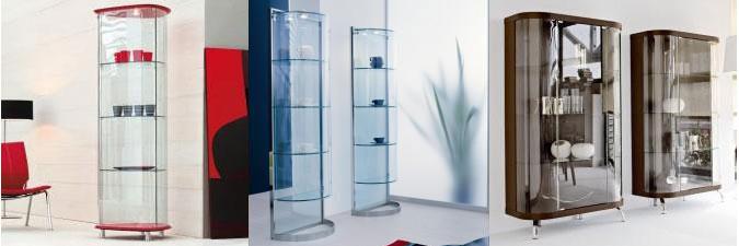 Vetrine e vetrinette dove esporre gli oggetti più cari.